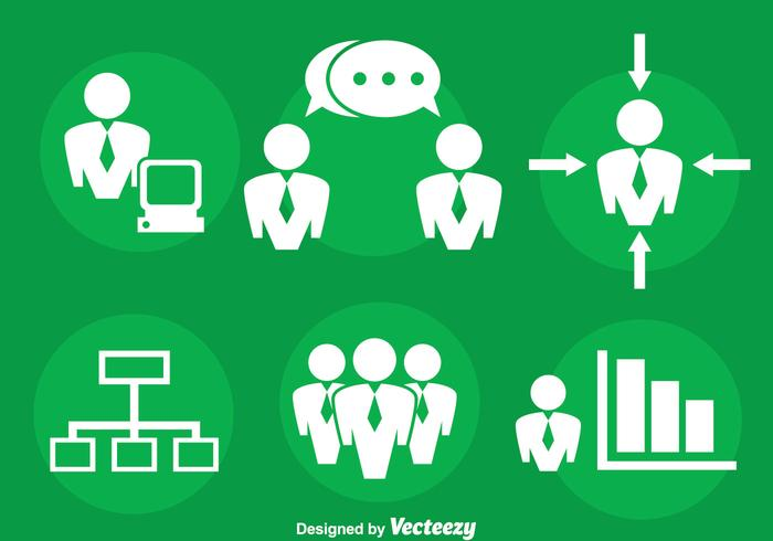 Meeting Point And Business Icons Vector