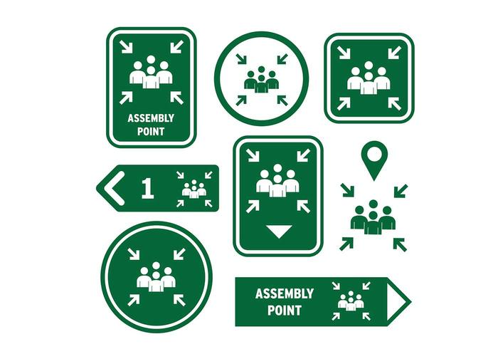 Meeting Point Sign Icon Free Vector
