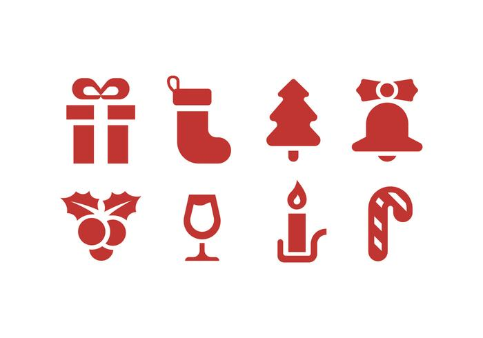 X-mas icons vector