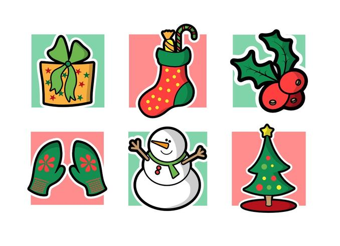 Christmas Free Vector Pack Vol. 2