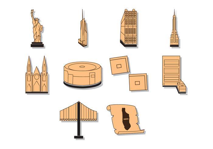 Manhattan Map Illustration Vector