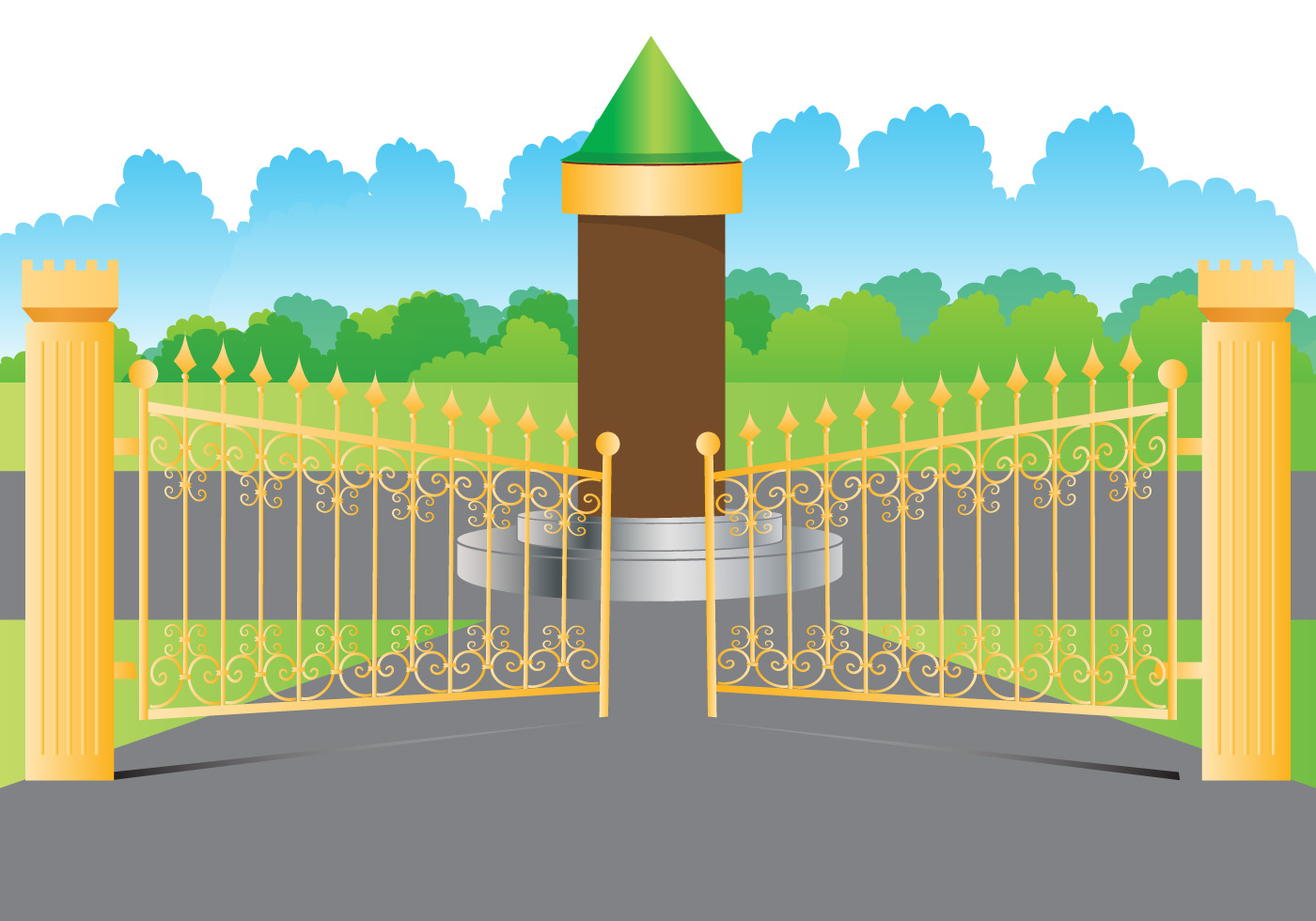 Open Gate Gold Download Free Vector Art Stock Graphics