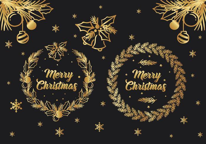 Vector de felicitación de Navidad gratis