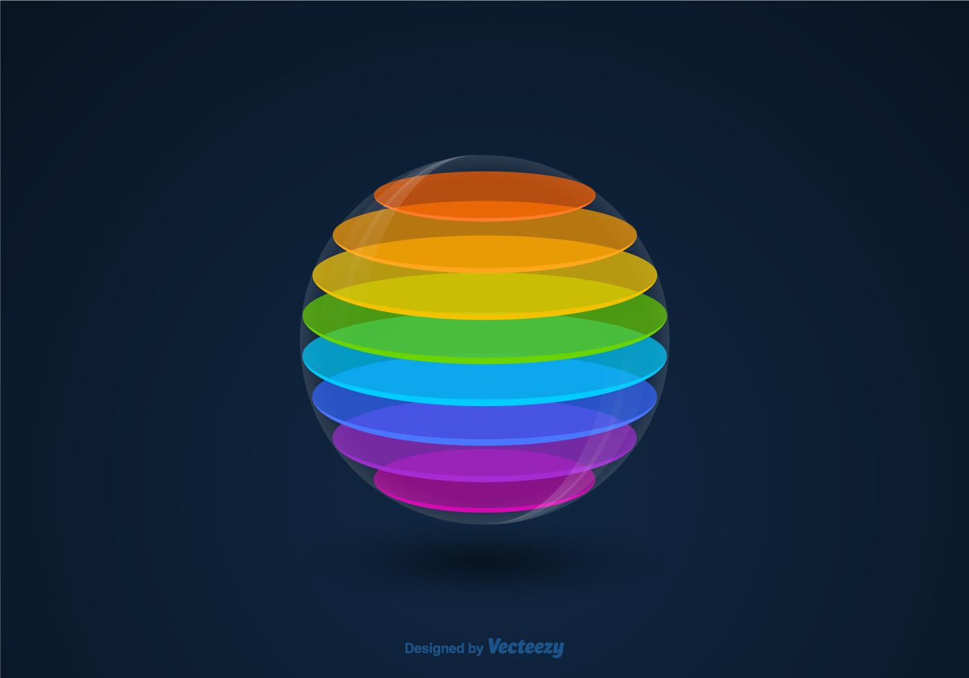 Vector 3D Colourful Sphere