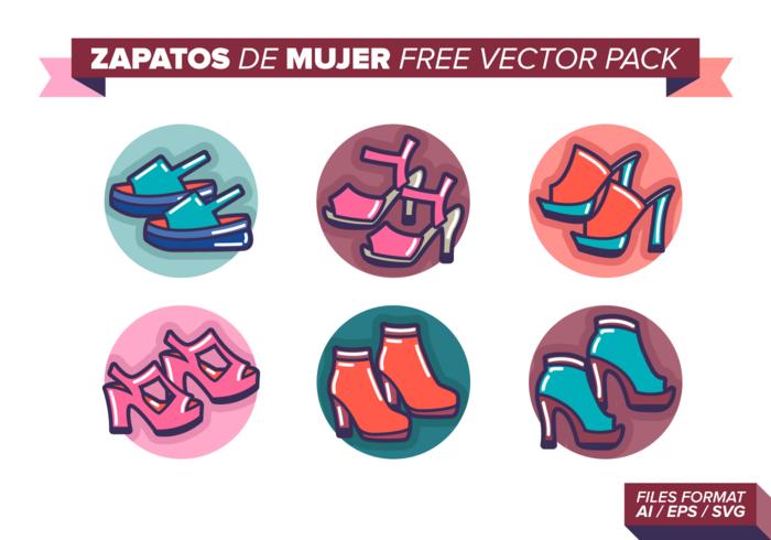 Zapatos de Mujer Free Vector Pack