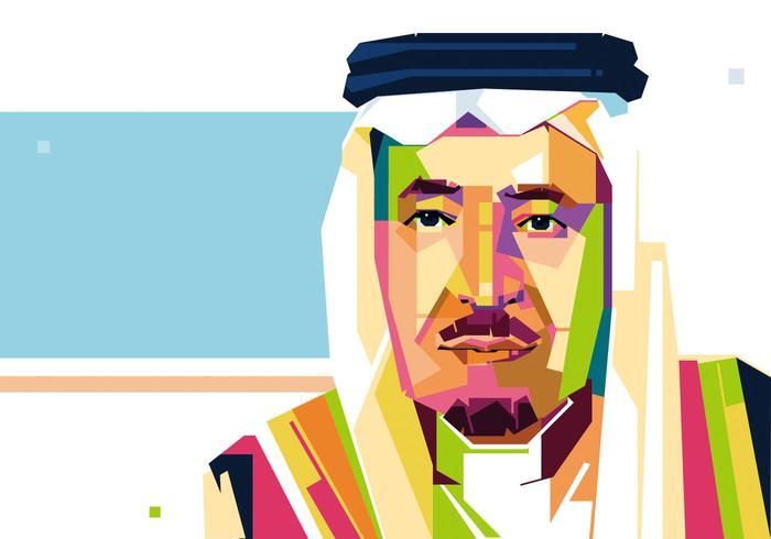 Rey de Arabia Saudita Vector - WPAP
