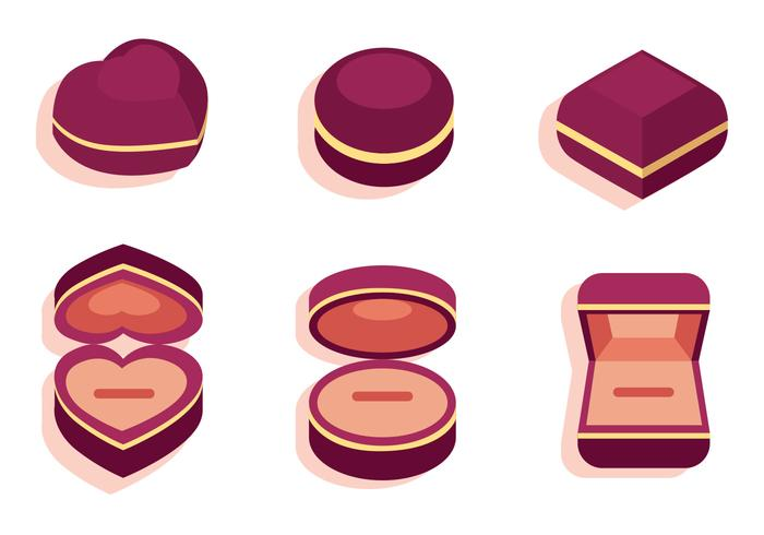 Ring Box Vector Set