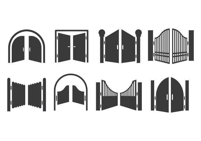 Free Open Gate Icons Vector
