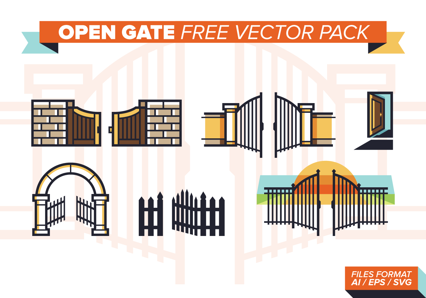 Open Gate Free Vector Pack Download Free Vector Art