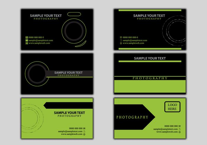 Business name card photography template