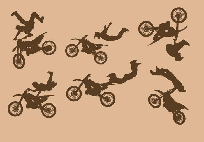 Dirt Bikes Vector Libre