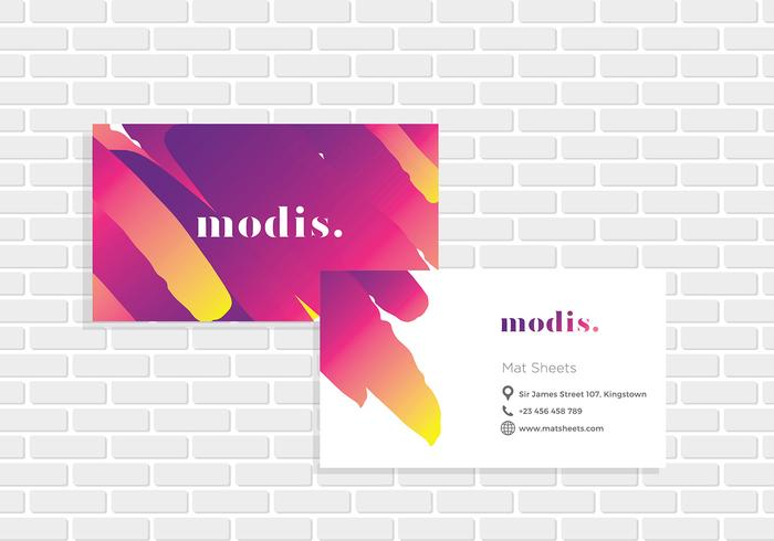 Name Card ModisTemplate Vector
