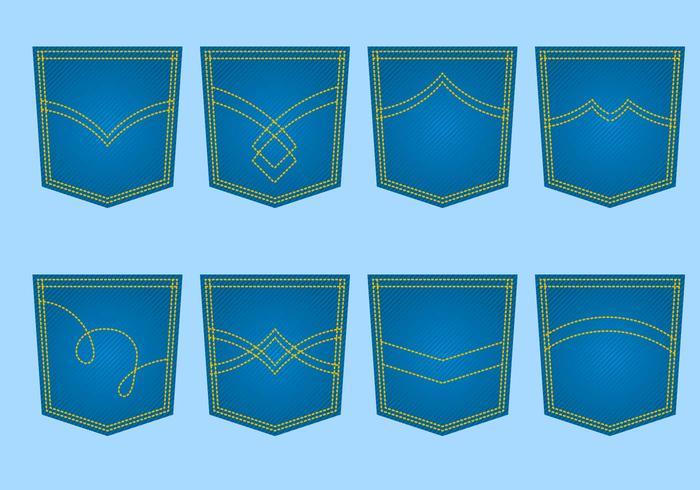 Libre Blue Jeans Pocket Vector