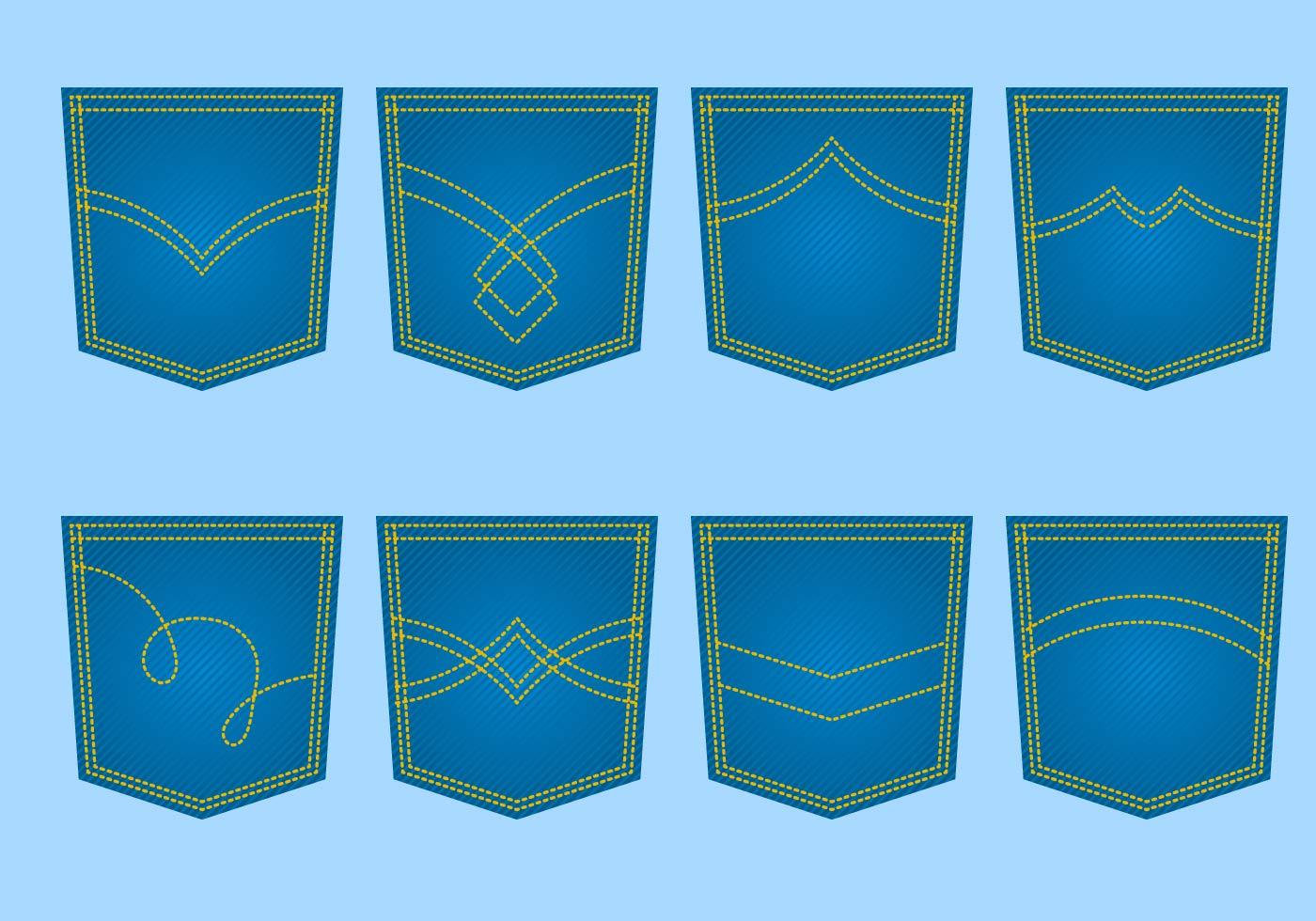 free blue jeans pocket vector download free vector art