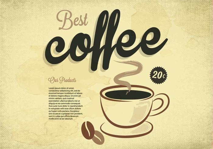 Best Coffee Vintage Vector