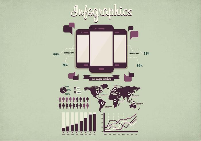 Vettore di infografica minimale