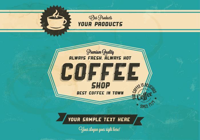 Siempre caliente, café siempre fresco Vector