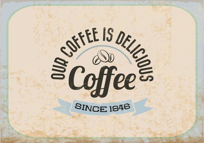 Vetor de café vintage delicioso