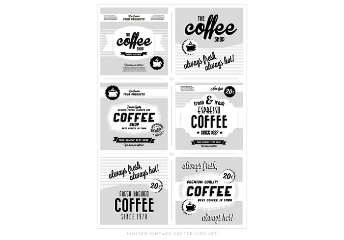 Weinlese Kaffee Logos Vektor