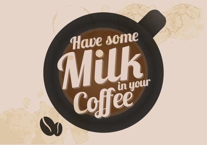 Coffee and Milk Vector