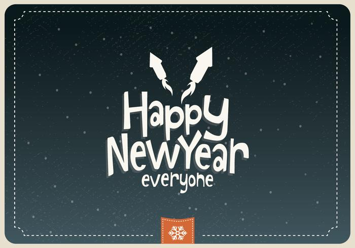Happy New Year Everyone Vector