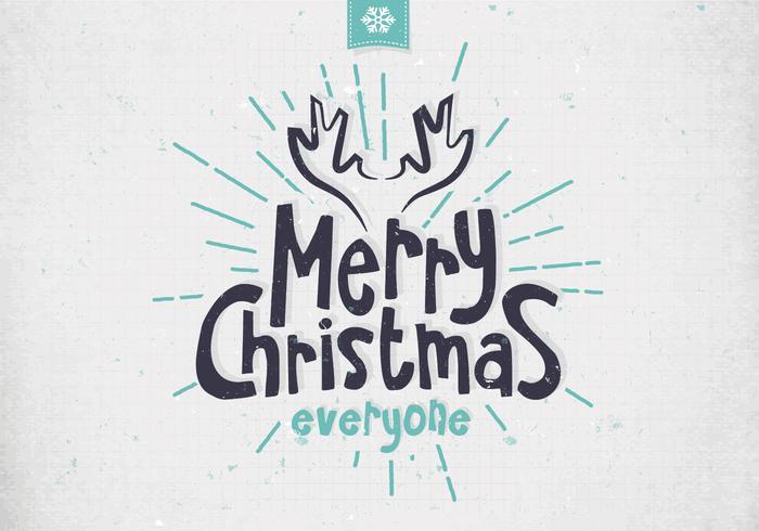 Merry Christmas Minimalist Vector