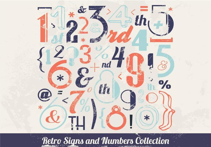 Vintage-Inspired Number Vector