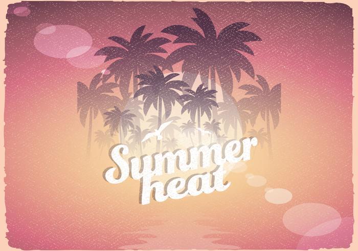 Retro Zomer Heat Poster