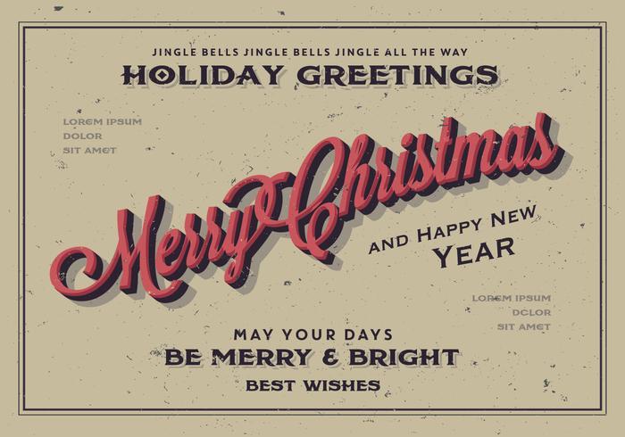 Merry Christmas Holiday Greeting Vector
