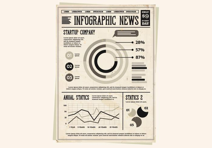 Newspaper Startup Infographic Vector