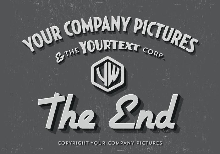 The End Title Card Vector