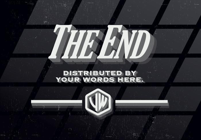 Vintage End Vector