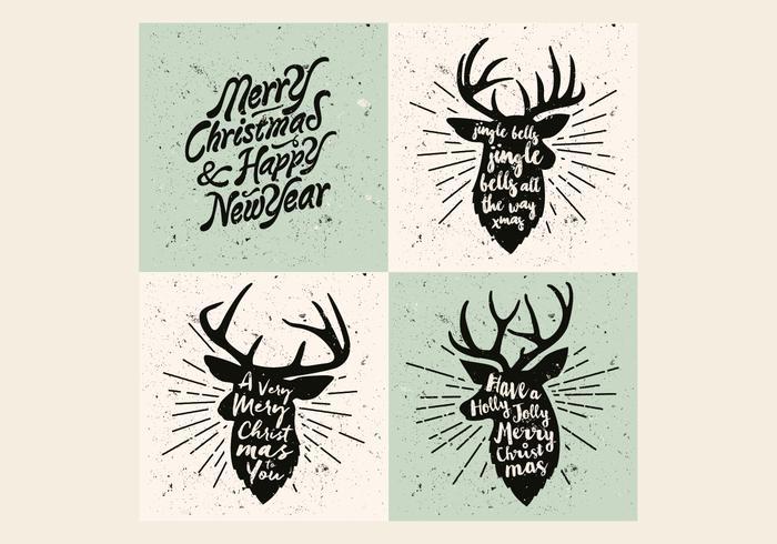 Reindeer Christmas Carol Vector