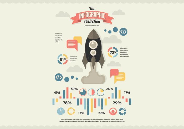 Nasa Infographic Collection Vector
