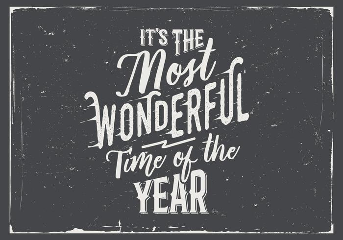 It's the Most Wonderful Time of the Year Chalkboard Vector