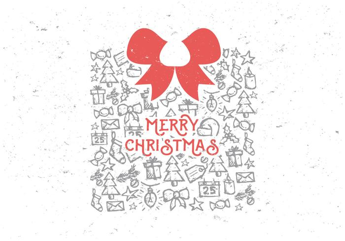 Merry Christmas Gifts and Goodies Vector