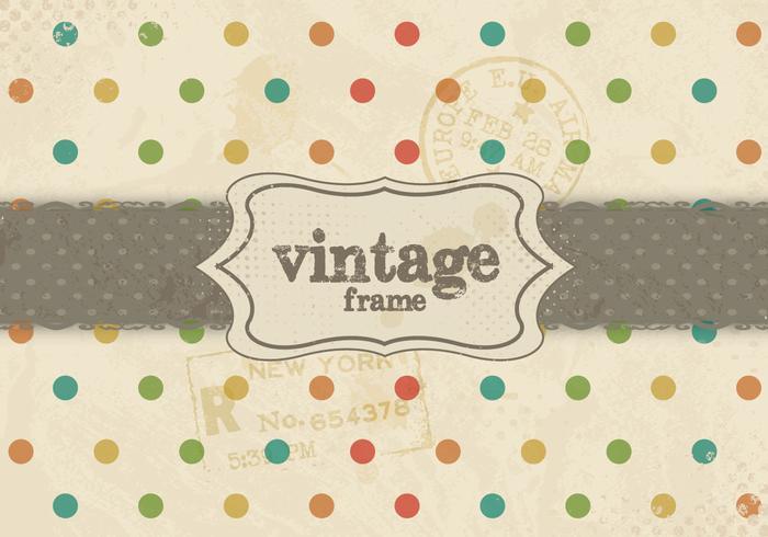 Vintage regnbåge prickmönster vektor