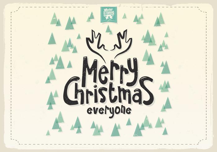 Joyeux Noël à tous les arbres de pin