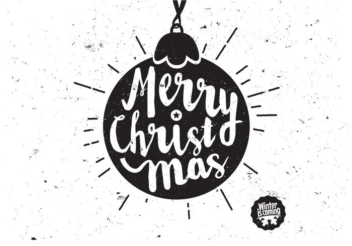 Scripted Christmas Ornament Vector