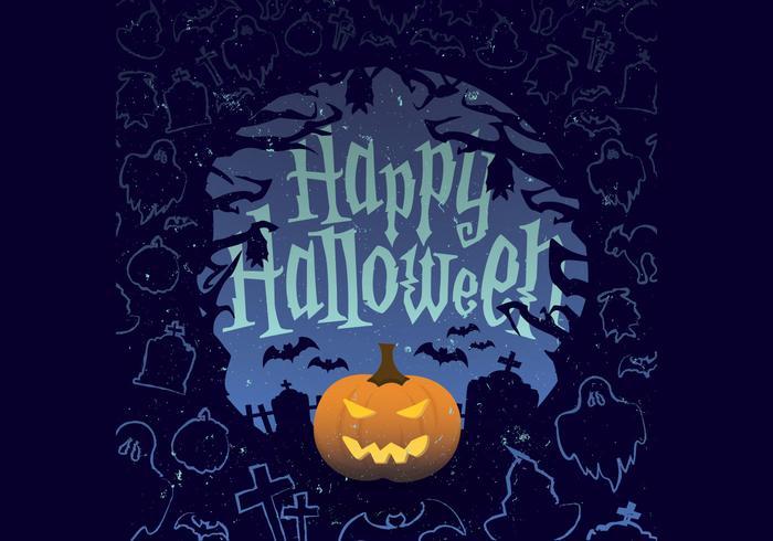 Jack-O-Linterna vector de Halloween