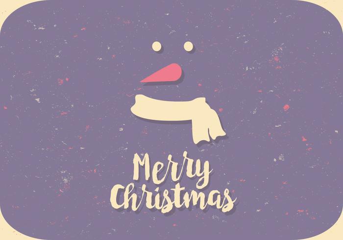 Colorful Snowman Postcard