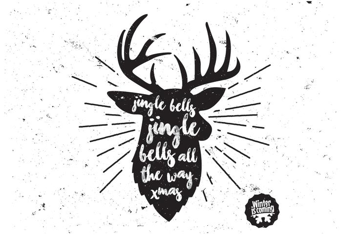 Buck christmas jul vektor