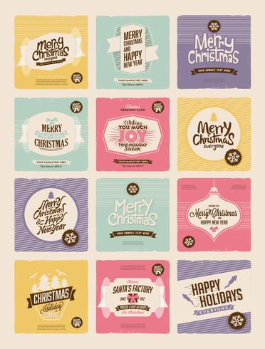 Cheery Christmas Collection Vector