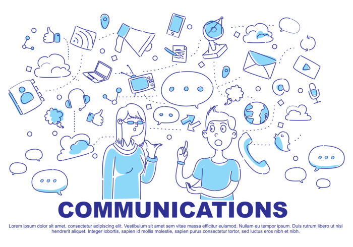 Comunication Doodle Vector Illustration