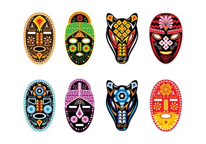 Huichol Mask Vector