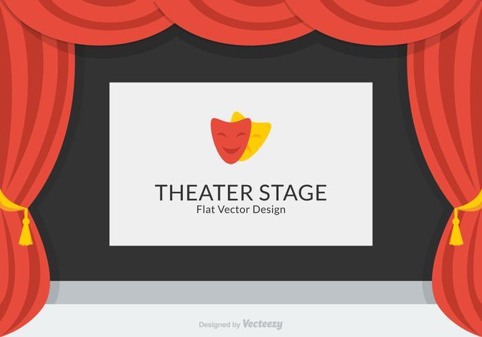 Teater Stage Vector Design