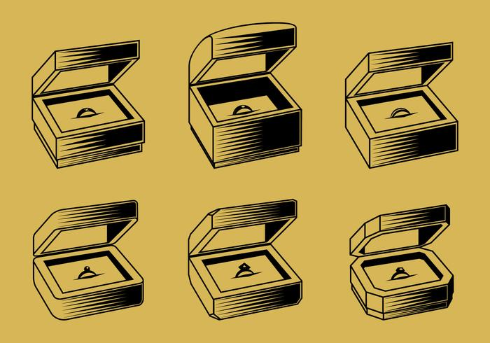 Ring Box Outline Free Vector