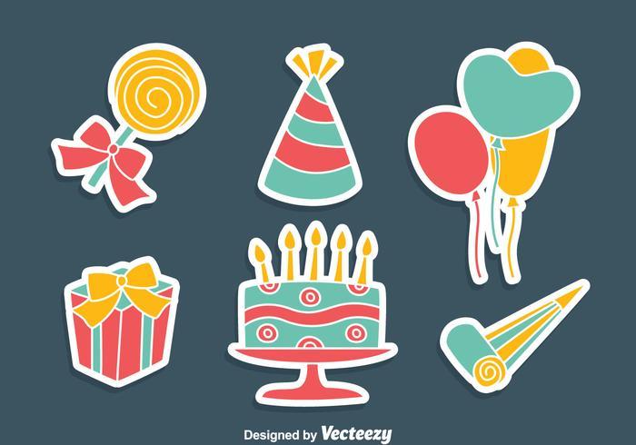 Party Decoration Vector Set