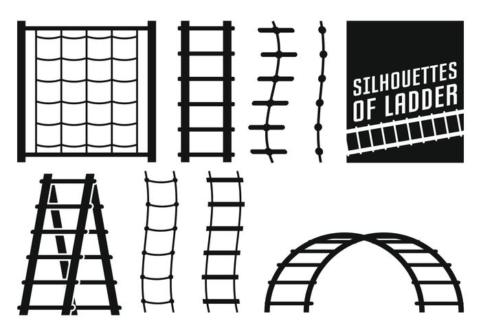 Ladder Silhouettes vector