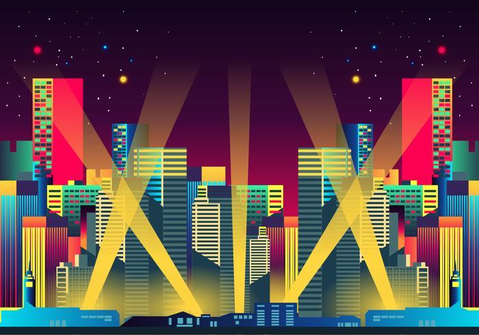 Hollywood lights night city